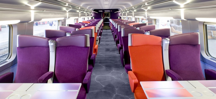 Zweite Klasse-Abteil TGV Sud-Est